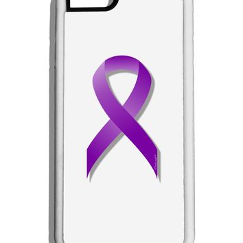 Epilepsy Awareness Ribbon - Purple White Dauphin iPhone 6 Cover by TooLoud