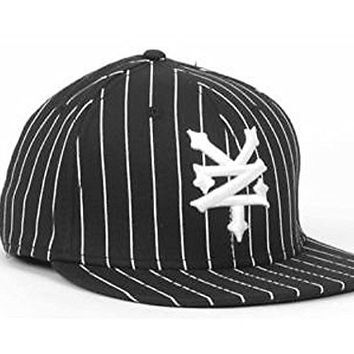 Zoo York Classic OG Black Pinstripe Stretch Fit L/XL Cap Hat