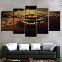 LOTR One Ring 5-Piece Wall Art Canvas