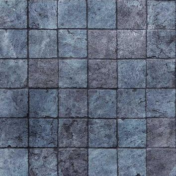 Blue Stone Printed Photography Wall or Floor Backdrop - 1116
