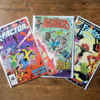 Marvel Comics 3 Pack;  X-Factor Origin: Avengers v1, 263; Fantastic Four v1, 286; and X-Factor v1, 1; all NM+. 1986. Marvel Comics