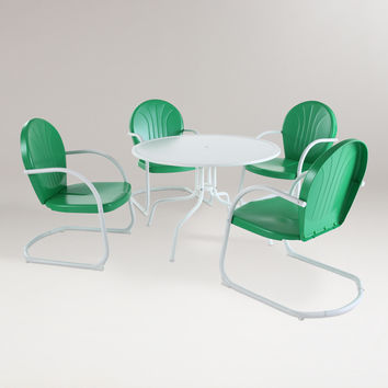 Green Durresi Metal Dining Set, 5-Piece - World Market
