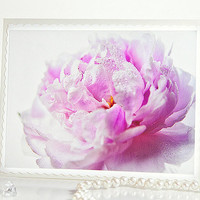 Pink pastel peony photo note card. Adorable greeting card for her for any occasion