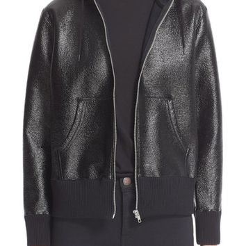 Junya Watanabe Laminated Faux Leather Zip Jacket | Nordstrom