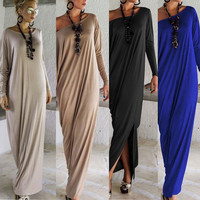 Maxi Long Dress Long Sleeve Casual Party Dresses