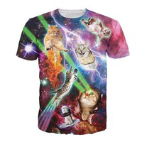 3D Printed Cat T Shirts Cat Galaxy