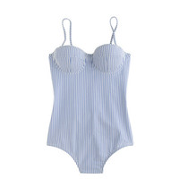 J.Crew Womens Dd-Cup Seersucker Underwire One-Piece Swimsuit