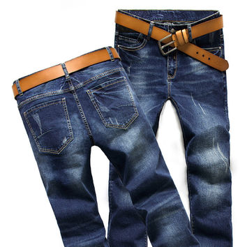 Winter Jeans Korean Cotton Stretch Luxury Pants Straight Jeans [6541770947]