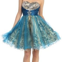 Special Sale!!! US Fairytailes Strapless Cocktail Party Junior Prom Dress #2863
