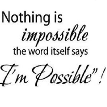 Nothing Is Impossible Quote Wall Sticker