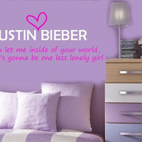 JUSTIN BIEBER One Less Lonely Girl Vinyl lyrics by TheBabyDolls