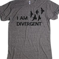 Athletic Grey T-Shirt | Fun Divergent Movies Shirts