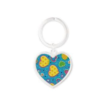 Girly Yellow Hearts Heart Keychain> Girly Yellow Hearts> Accessorize Me
