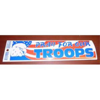 """patriotic bumper sticker """"pray for our troops"""" Case of 200"""
