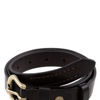 Erica Black Leather Belt