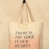 Thunder in Our Hearts Tote Bag - Spotted Moth