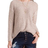 Fuzzy High-Low Tunic Sweater by Charlotte Russe