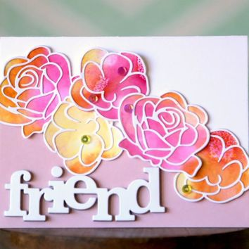 New Big Word Friend Metal Cutting Dies Stencil for DIY Scrapbooking Photo Album Embossing Paper Cards Decorative Crafts Die Cuts