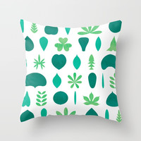 Leaf Shapes and Arrangements Pattern Bright by kathrinmay