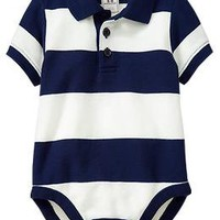 Pique-Polo Bodysuits for Baby | Old Navy