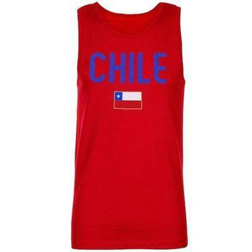 Licensed Sports Chile Country Flag Tank Top - Red KO_20_2