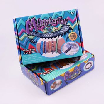 MonsterTail: Rainbow Loom - Popular Loom Bands DIY Bracelets Making Kit With S-Hook & Charms