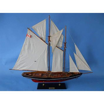 Wooden Bluenose 2 Model Sailboat Decoration 35""
