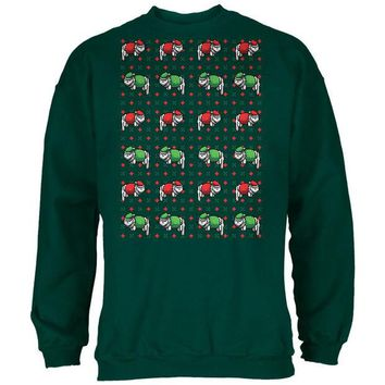 LMFCY8 Meowwy Christmas Ugly XMas Sweater Forest Adult Sweatshirt