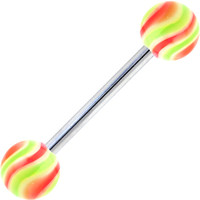 Pink Ludicrous Lime HYPNOTIC Barbell Tongue Ring | Body Candy Body Jewelry