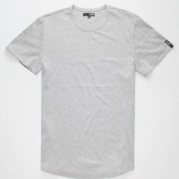 Elwood Curved Hem Mens T-Shirt Gray  In Sizes
