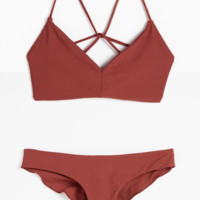 Solid Color Bandage Handmade4 Braided swimsuits Swimwear  BK034