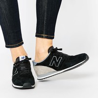 New Balance 420 Black Perforated Leather Trainers