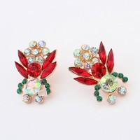 Tropical Plants Rhinestone Earrings | LilyFair Jewelry