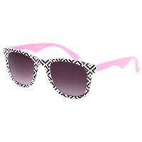 Full Tilt Neon Tribal Classic Sunglasses Pink One Size For Women 26370535001