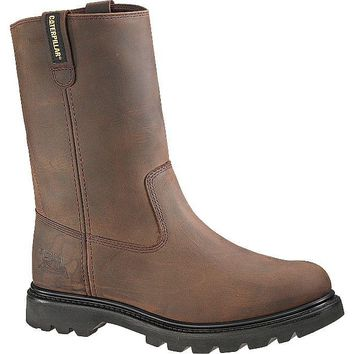 Cat P89516-11.5W Caterpillar Mens Revolver Steel Toe Work Boot, Brown, Size-11.5