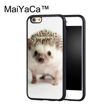MaiYaCa Hedgehog Cute Animal DESIGN Phone Case for iPhone 6 6s Plus Capa Fundas Case for iphone 6s plus Back Protection Shell