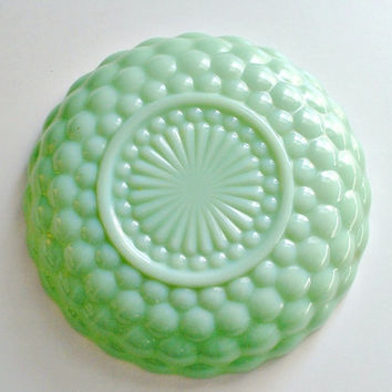 Vintage Jadeite Fire King Bubble Bowl Jadite