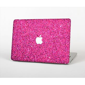 The Pink Sparkly Glitter Ultra Metallic Skin Set for the Apple MacBook Air 11""