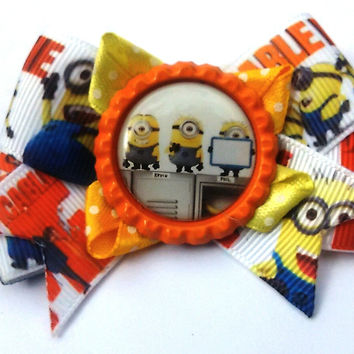 Despicable Me Hair clip - Minion Hair Bow