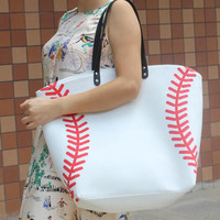 Baseball Softball Soccer Football Canvas Tote Sports Bags Tote Bag Womens Purse