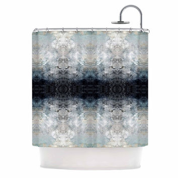 "Pia Schneider ""Heavenly Abstraction l"" Blue Digital Shower Curtain"