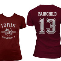 Fairchild 13 Idris University Shadowhunters Women Tshirt tee MAROON