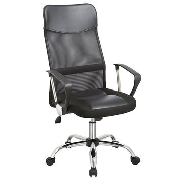 Office Chair Furniture Reception Executive Mesh Back Support Black