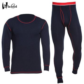 Hot New Cotton Winter Men Long Johns Thicken Mens Thermal Underwear Sets Plus Warm Long John O-Neck Thermal Undershirts Trousers