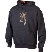 Browning Men's Realtree Camo Buckmark Heather Charcoal Hoodie Sweatshirt