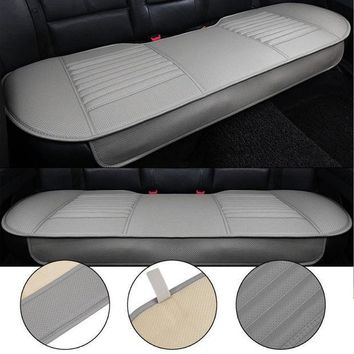 ESBON5 General Car Seat Cushions Mat Charcoal Auto Double Back Seat Pad Breathable Anti-slip Synthetic Leather Car Rear Seat Cover