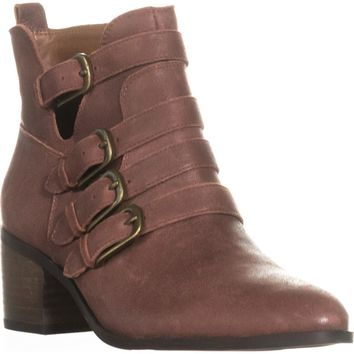 Lucky Brand Loreniah Buckle Ankle Boots, Sable, 9.5 US / 39.5 EU