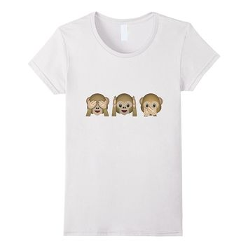 Emoji Shirt - Three Monkeys - For Men- Women And Kids