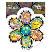 Earth Flower Window Sticker on Sale for $2.99 at HippieShop.com