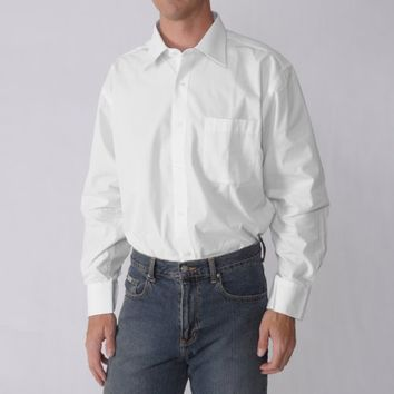 Boston Traveler Mens Easy Care Point Collar Dress Shirt
